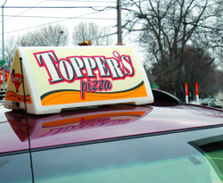 car topper, delivery