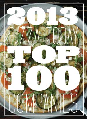 Top 100, pizza companies, pizza chains, november 2013, list