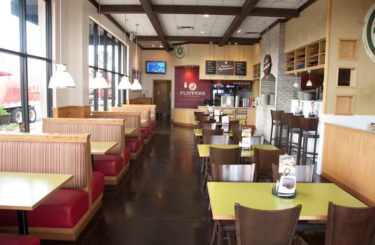 pizzeria, interior, dining area