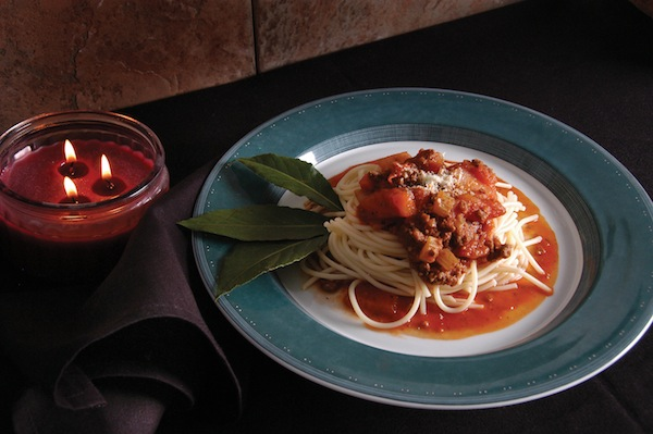 wine Spaghetti bolognese, 2009 October