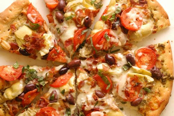 Artichoke and Smoked Bacon Pizza