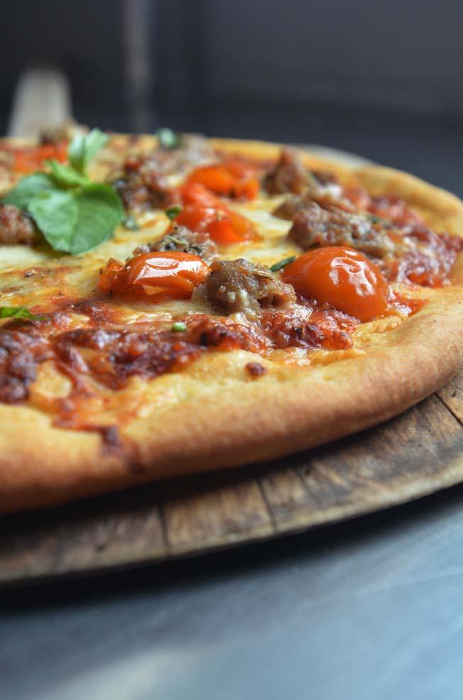 Franken Sausage, Pizza, recipe, pepperoni, bacon
