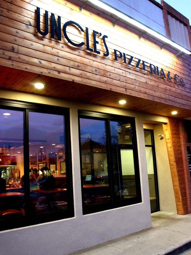 Uncle's Pizzeria, Fort Collins, CO, exterior, building, signage