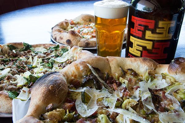 craft beer, pizza