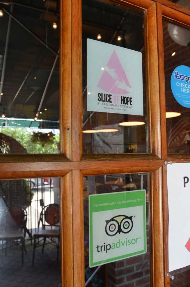 tripadvisor, sticker, window, display, signage