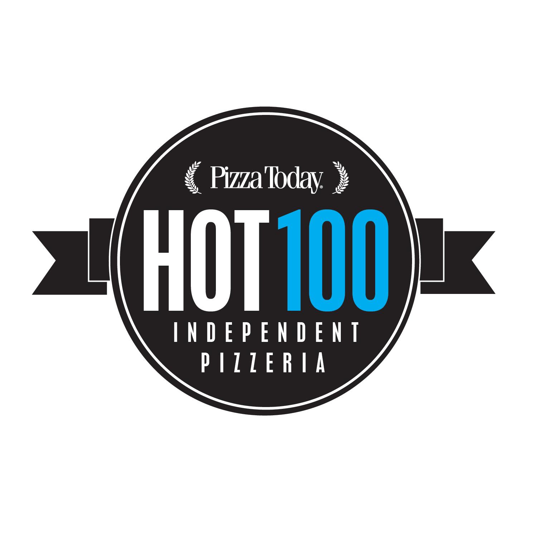 Hot 100 independent pizzerias list logo