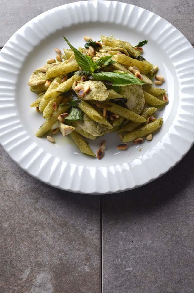 Penne, Chicken, Pesto, pasta