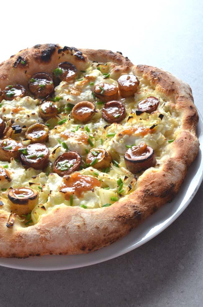 Potato & Leek Pizza with Prosciutto di Parma Gravy
