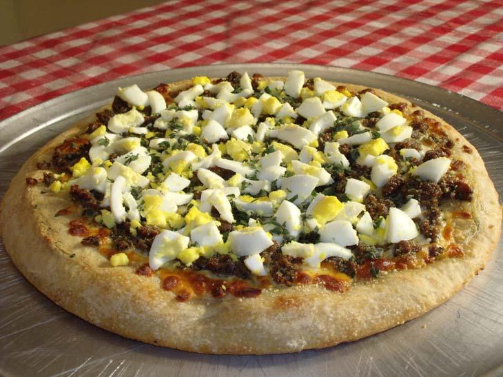 Scotch Egg Pizza, mangia italiano