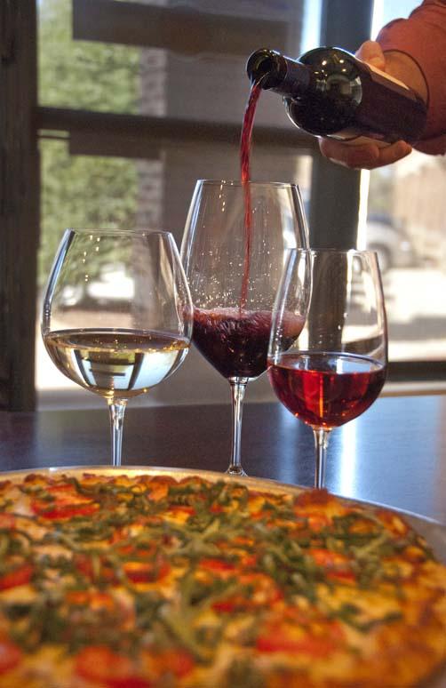 wine pour, wine glass