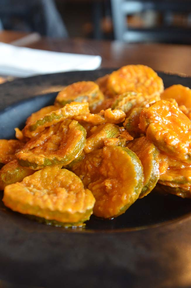 pickle chips, fried pickles