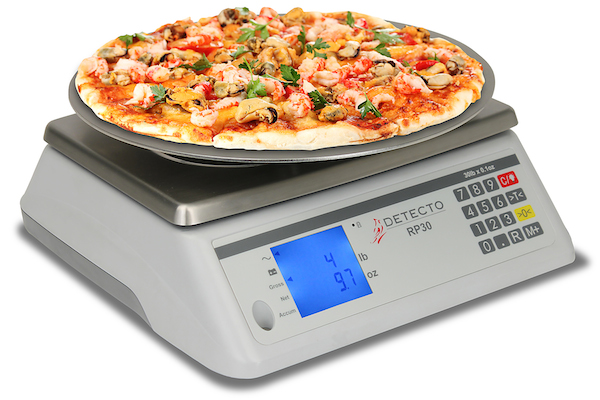 DETECTO RP30 Series Pizza Ingredient Scale