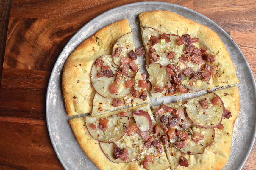 Pancetta and Potato Pizza