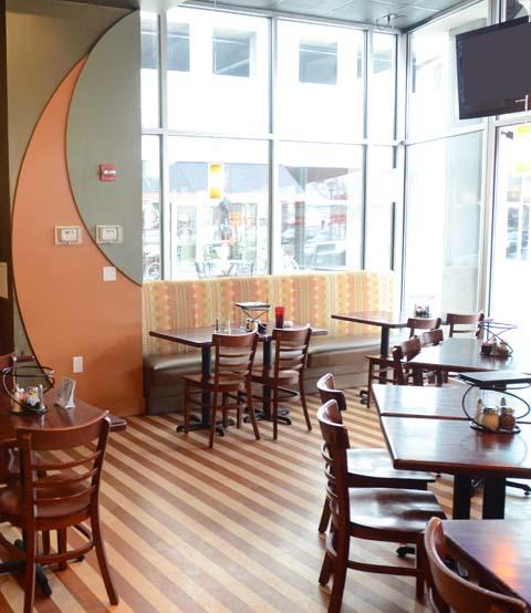 dining room, interior, pizzeria, lighting