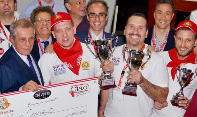 1st, 2nd & 3rd Place Winners - NY Style - 2015 Caputo Cup Competition