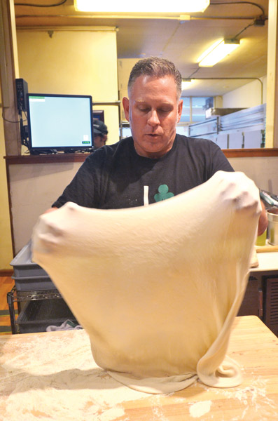 hand toss pizza dough