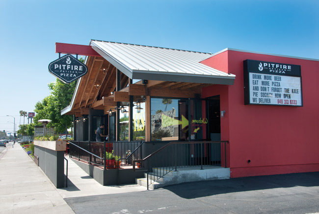 pitfire pizza exterior and signage
