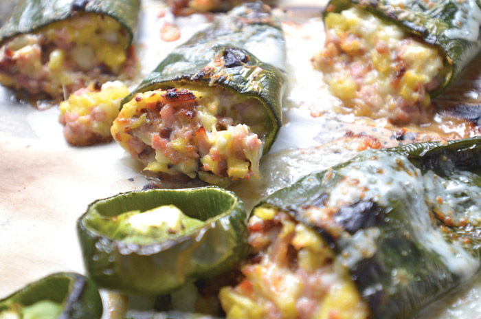 Sweet and Sour Stuffed Poblanos