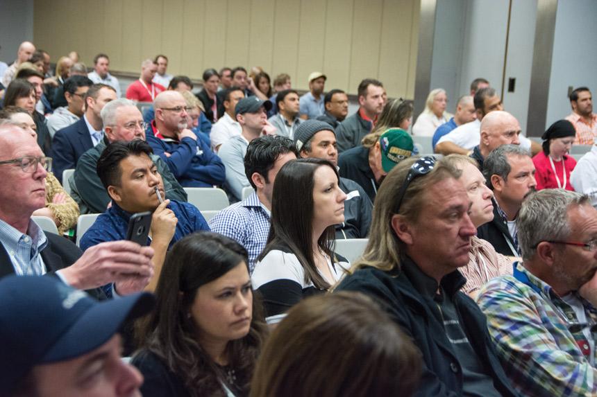 Pizza expo seminar crowd