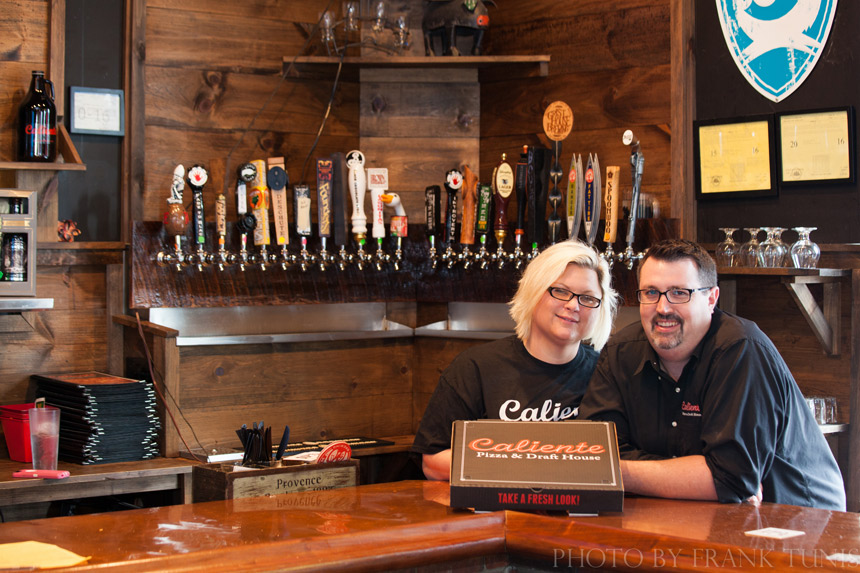 Owners, Angie and Nick Bogac, Caliente Pizza and Draft House, Pittsburgh, Pennsylvania