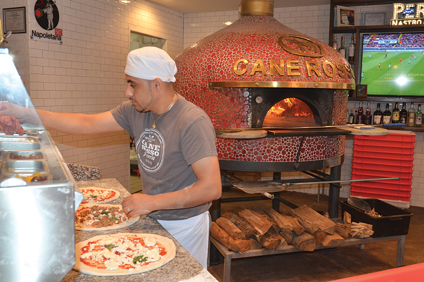cane rosso, dallas, texas, independent pizzeria of the year, pizza today, pizza, prep station, oven