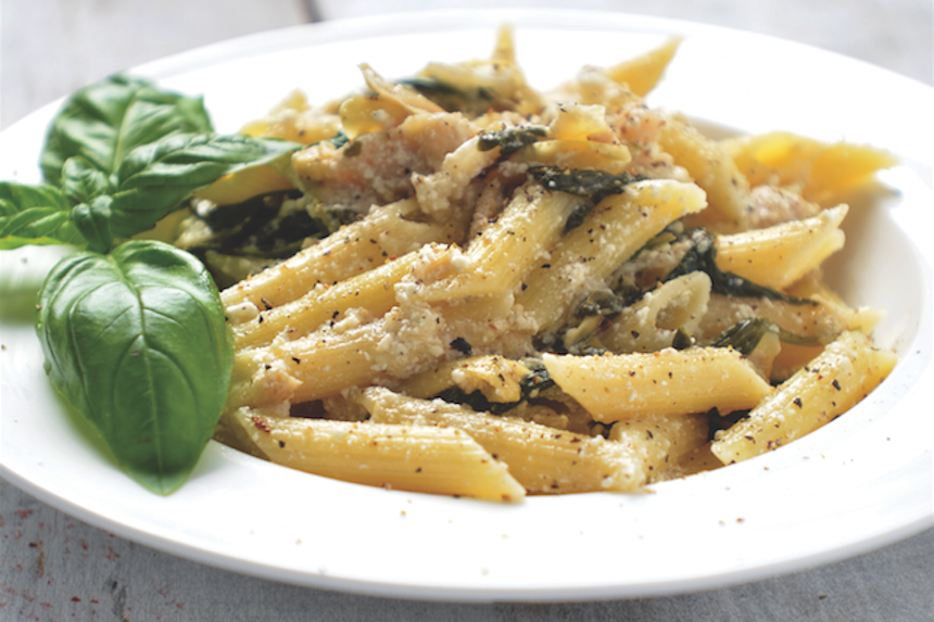 penne with artichoke hearts recipe