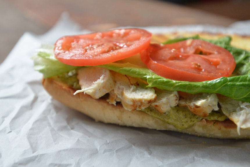 Chicken Pesto Sub, sandwich, recipe