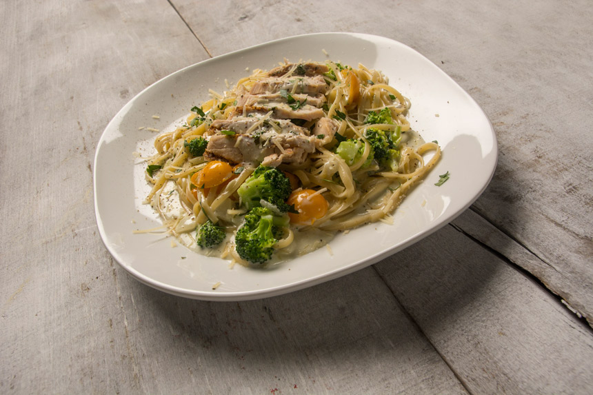 pasta, recipe, Chicken, Linguine, Gorgonzola Sauce