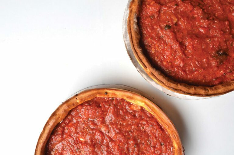 chicago style pizza, deep dish, giordano's