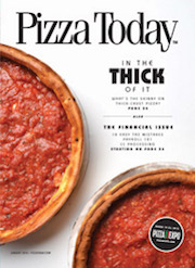 Pizza Today, magazine cover, january 2018