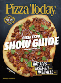 Pizza Today, magazine cover, pizza industry, march 2018, pizza expo