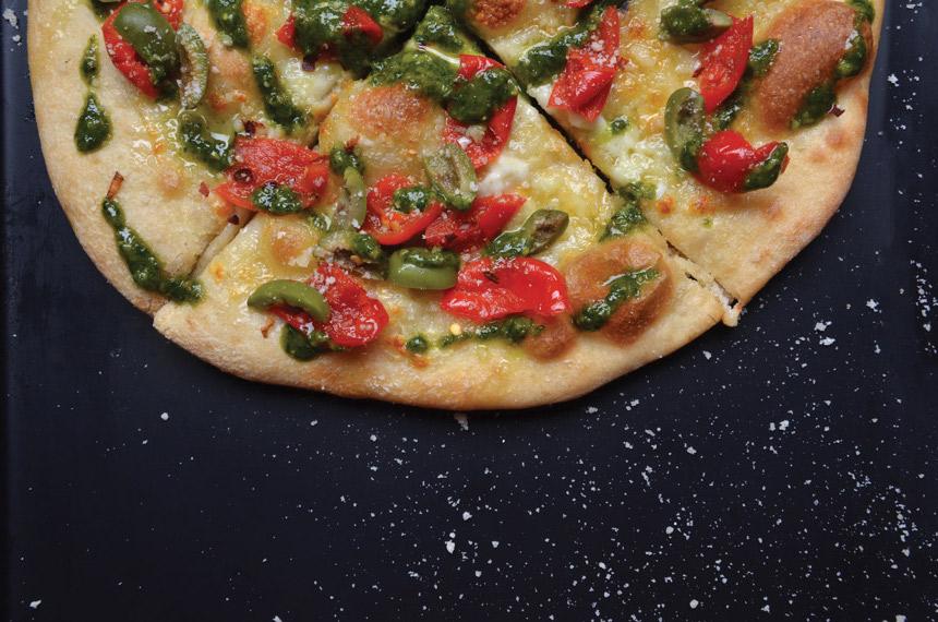 Agave Pesto & Piquante Pepper Pizza