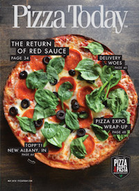 pizza today, trade magazine, pizza industry, may 2018, red sauce