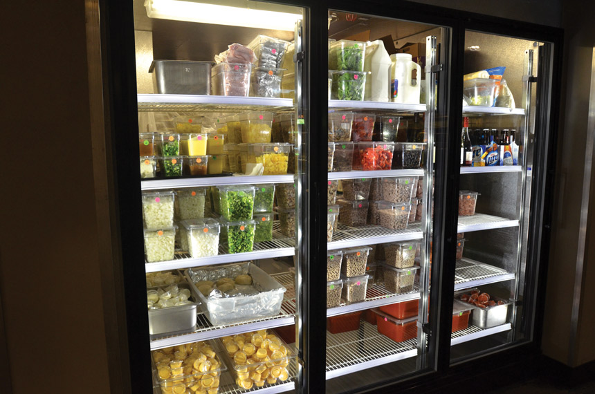 temperature controlled reach in refrigerator