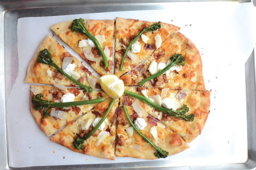 broccolini, white pie, recipe, tony gemignani, trending pizza topping
