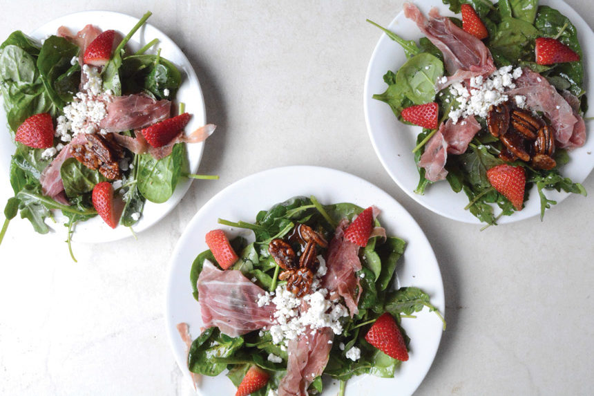 Goat Cheese, Prosciutto and Strawberry Salad