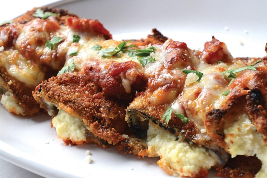 eggplant rollatini, entree, recipe